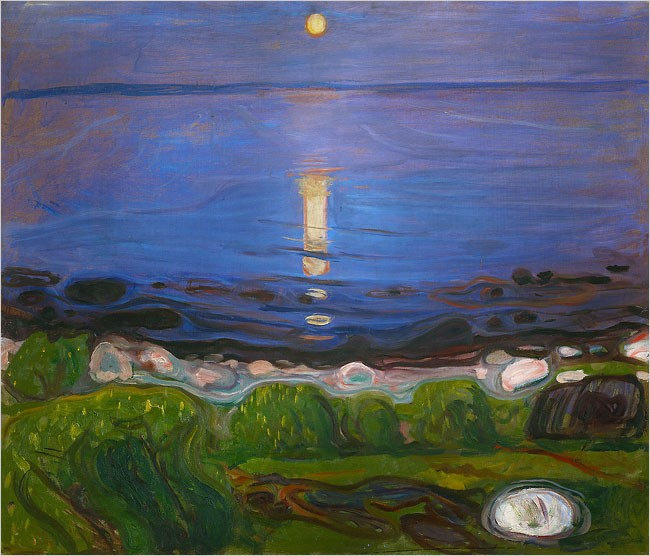 Summer Night at the Beach, Edvard Munch (1902,1903